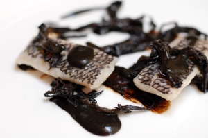 black garlic fish