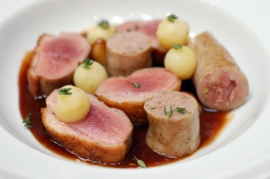 duck breast and housemade sausage