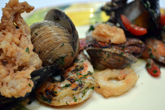 grilled seafood medley