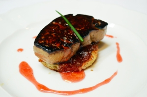 foie gras blood orange